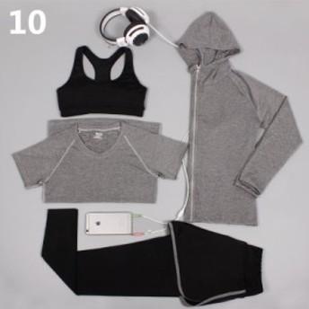 ヨガウェア セット レディースヨガウェア yogaセット スポーツウェア ヨガウェア 上下セット ヨガ服 女性用 3点セット 4点セット