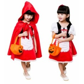 Store Babubabu ハロウィン コスチューム キッズ 赤ずきん 仮装 舞台 ハロウィーン コスプレ 子供 女の子