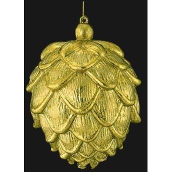 クリスマス 装飾 オーナメント 13cmゴールドアンティークパインコーン [TOMI6222]