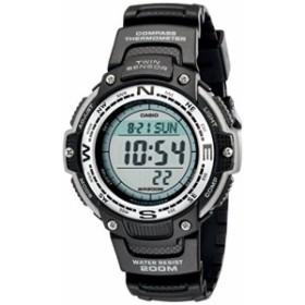 【当店1年保証】カシオCasio Men's SGW100-1V Twin Sensor Digital Black Watch