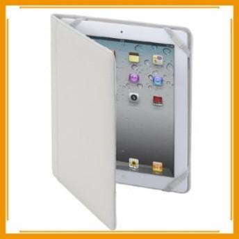 メール便送料無料 タブレットケース カバー iPad 3 2 MacGizmo ホワイト 白 手帳型 フリップ 合成皮革 PU レザー 保護フィルム
