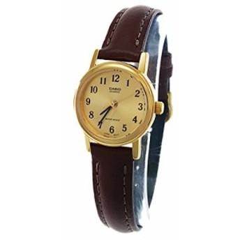 【当店1年保証】カシオCasio Women's LTP1095Q-9B1 Brown Leather Quartz Watch with Gold Dial