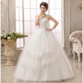 プリンセスラインミニドレスハイウエスト 二次会ドレス 花嫁ドレス ウェディングドレス パーティードレス