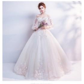b084097b1fcf3 豪華 オフショルダー 優雅 フォーマルドレス 素敵 ロングドレス 人気 ウェディングドレス パーティードレス 結婚式