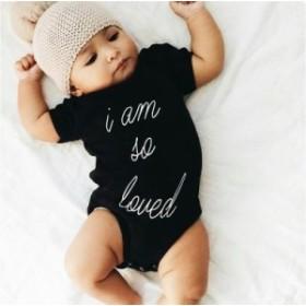 ベビー服 赤ちゃん 服 ベビー ロンパース 男女兼用 70 80 90 100半袖ロンパース