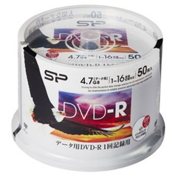 シリコンパワー SPDR47PWC50S データ用16倍速対応DVD-R 50枚パック4.7GB ホワイトプリンタブル[SPDR47PWC50S]【返品種別A】
