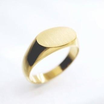 ゴールドリング 鍛造(たんぞう) K18 指輪 横小判印台リング3匁(11.25g) メンズリング オリジナル