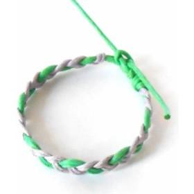 グリーン&パープル ワックスコード ミサンガ ブレスレット  レディース メンズ アクセサリー 腕輪 p30-sbl270