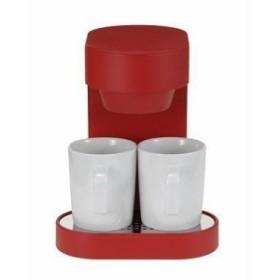 宅配便送料無料 プラスマイナスゼロ コーヒーメーカー 2カップ レッド XKC-V110-R コーヒーメーカー 4582241452146