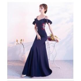 お呼ばれドレス 卒業式パーティードレス披露宴 結婚式 ドレス 袖ありウェディングドレス 二次会ドレス 花嫁 パーティドレス