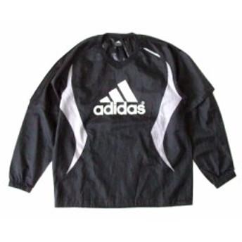 adidas アディダス ナイロントレーナー (黒 ライン Tシャツ 長袖) 110051【中古】