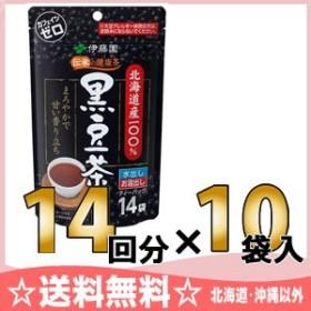 伊藤園 伝承の健康茶 北海道産100%黒豆茶ティーバッグ 14袋×10入