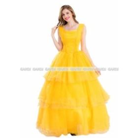 ゴールド プリンセス ドレス ハロウィン コスチューム 仮装 コスプレ 人用 レディース 仮装 余興 衣装 パーティー ドレス