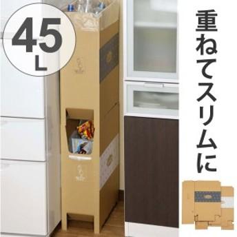 ゴミ箱 2段重ねダンボールダストボックス 45L 日本製 ( ごみ箱 分別ゴミ箱 ダストボックス ダストBOX ダンボール製 資源ごみ キッチ