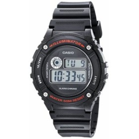 【当店1年保証】カシオCasio Unisex W-216H-1AVCF Illuminator Black Watch
