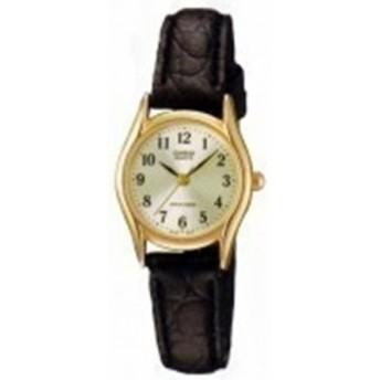 【当店1年保証】カシオCasio Women's LTP1094Q-7B2 Brown Leather Quartz Watch with Silver Dial