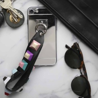 スマホケース iPhone5/5s/se/6/6s/6Plus/6sPlus/7/7Plus/8/8Plus ストラップ付きミラーケース