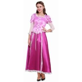 高品質 高級コスプレ衣装 ディズニー 塔の上のラプンツェル プリンセス オーダーメイド ドレス Tangled Rapunzel dress Princess