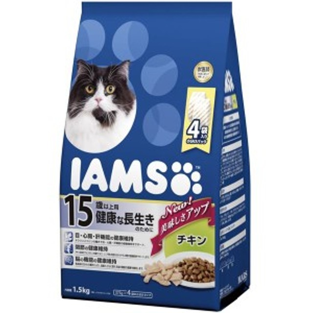 【最大39%還元】BIGバーゲン対象 マースジャパンリミテッド アイムス 15歳猫チキン1.5kg [ペット用品]