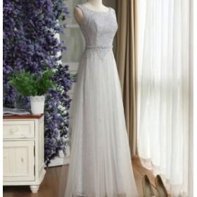 パーティードレス ロングドレス モーターショー  Aラインドレス 艶やかな花嫁 挙式 発表会 ピアノ  グレードレス