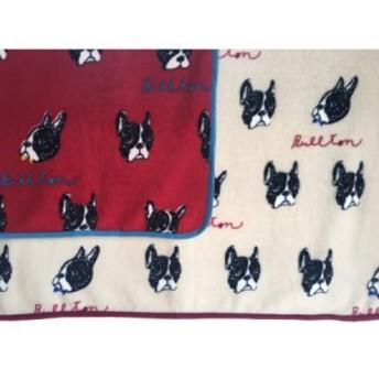 ブランケット ブルドッグがいっぱい お洒落 秋冬 防寒 犬猫用 赤ちゃん用 膝掛け 100×72 柔らかフリース