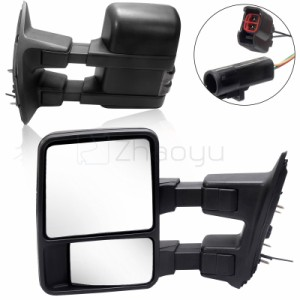 For 99-07 Ford F250 F350 F450 F550 Super Duty POWER+HEATED Tow Side Mirrors Pair