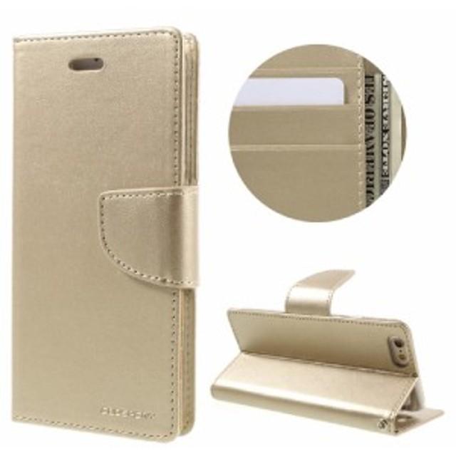 e07e3b3abc iPhone 6s Plus / 6 Plus レザーケース ゴールド 強化ガラス保護フィルム付き スマホケース アイフォン