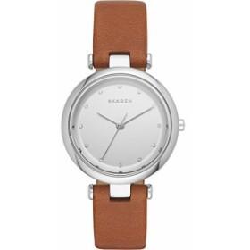【当店1年保証】スカーゲンSkagen Women's SKW2458 Tanja Dark Brown Leather Watch