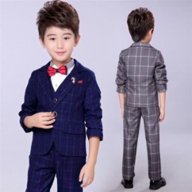 5895829b9e3e8 子供スーツ 子供服フォーマルスーツ男の子スーツ 初節句 キッズ スーツ紳士服七五三 3点