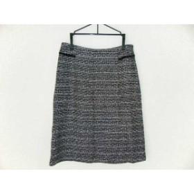 ブリジット BRIGITTE スカート サイズ7 S レディース 美品 黒×白 ツイード/ラメ【中古】