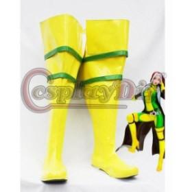 高品質 高級 オーダーメイド ブーツ 靴 シューズ エックスメン 風 X-Men Cosplay Boots Marvel X-Men Rogue Cosplay Boots