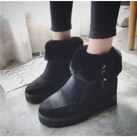 レディース上品質イギリス風ショートブーツ美脚着痩せ ムートンブーツ ブーツ/裏フード付きブーツ大きいサイズあり /1102
