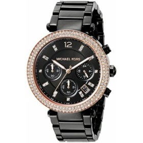 【当店1年保証】マイケルコースMichael Kors Women's Parker Black Watch MK5885