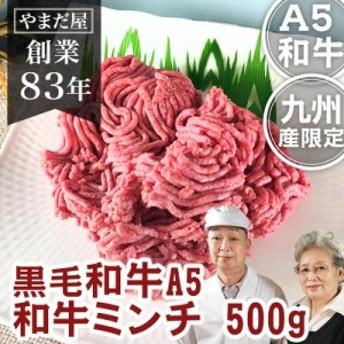 九州産 黒毛和牛(鹿児島/佐賀/長崎)牛肉 国産牛 和牛 A5ランク 5等級 牛ミンチ 500g