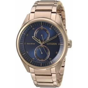 【当店1年保証】シチズンCitizen Men's 'Dress' Quartz Stainless Steel Casual Watch, Color:Rose Gold