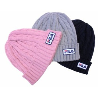 秋・冬 ! 帽子 ニット帽 パッチ ケーブル ニット ワッチ FILA フィラ 178-113801