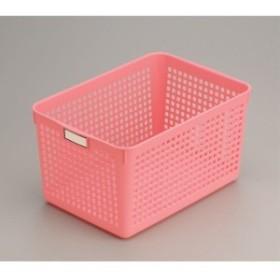 バスケット ディープ(18.2×26.4×高さ14.2cm) ピンク