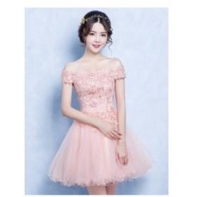 新品人気  パーティードレス 結婚式  ウェディングドレス 花嫁 大きいサイズ カラードレス ベアトップ 演出 二次会 ステージ