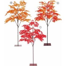 ハロウィン造花 フラワー 観葉植物 210cm モミジツリー(スタンド付き)  [LETR5133]【フェイク グリーン 資材 装飾 飾付 人工観葉植物】