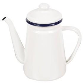 パール金属 ホーロー コーヒー ポット 1.1L ホワイト フェスカ HB-731