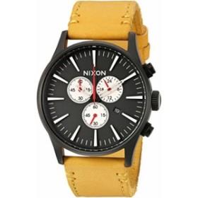 【当店1年保証】ニクソンNixon Men's 'Sentry Chrono' Quartz Metal and Leather Watch, Color:Orange (