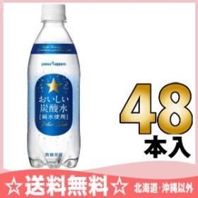 ポッカサッポロ おいしい炭酸水 500ml ペットボトル 48本 (24本入×2 まとめ買い)