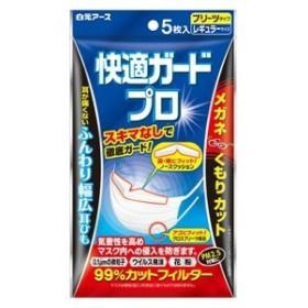 快適ガードプロ レギュラーサイズ 5枚入り《プリーツタイプ》 /使いきりマスク/