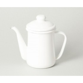 ブランキッチン ホーロー コーヒーポット0.6L(ホワイト) HB-3680 パール金属