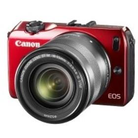Canon ミラーレス一眼カメラ EOS M レンズキット EF-M18-55mm F3.5-5.6 IS STM付属 レッド EOSMRE-18-55ISSTMLK 中古 良品