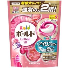 P&G・ジャパン P&G ボールド ジェルボール3D 癒しのプレミアムブロッサムの香り 詰替え 超特大サイズ