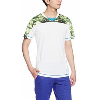 (ミズノ)MIZUNO サッカーウェア プラクティスシャツ [MEN'S] P2MA6086 73 ホワイト×ライムグリーン XL