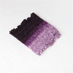 意匠荻野 手染めシルクネックカバー 紫系