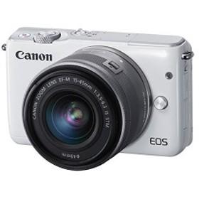 Canon ミラーレス一眼カメラ EOS M10 レンズキット(ホワイト) EF-M15-45mm F3.5-6.3 IS STM 付属 EOSM10WH-1545ISSTMLK 中古 良品