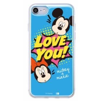iphone8 iphone7 ケース ディズニー キャラクター TPU+背面パネル カバー disney Love You_1
